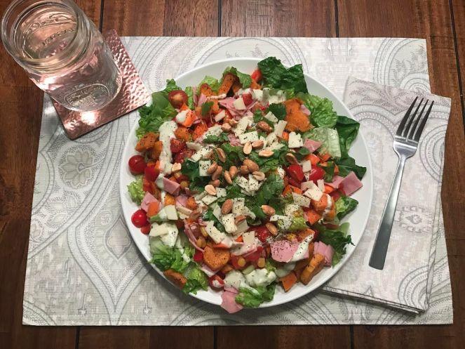 cilantro-sweet-potato-and-ham-salad